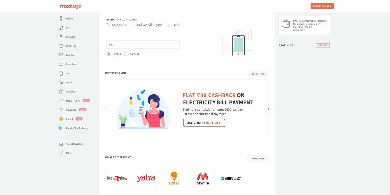 Freecharge Go Mastercard