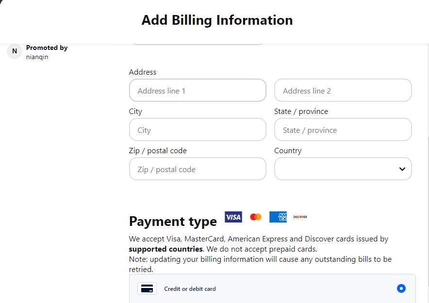 pinterest虚拟信用卡