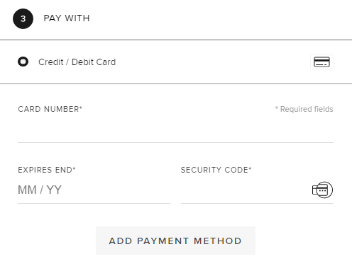 end虚拟信用卡