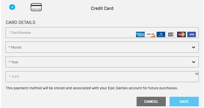 epic虚拟信用卡