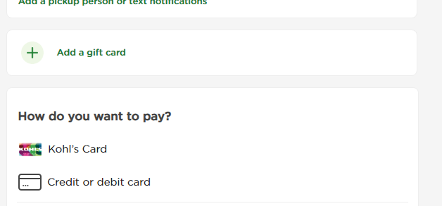 kohls虚拟信用卡