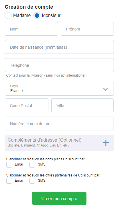Cdiscount虚拟信用卡