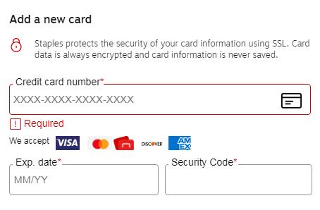 staples虚拟信用卡