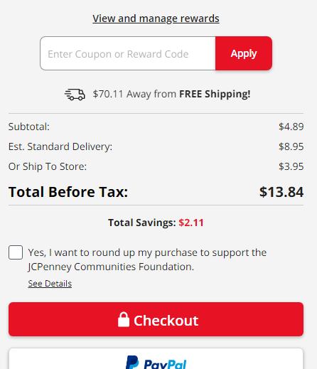 jcpenney虚拟信用卡