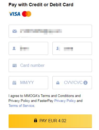 MMOGA虚拟信用卡