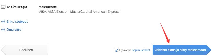 verkkokauppa虚拟信用卡